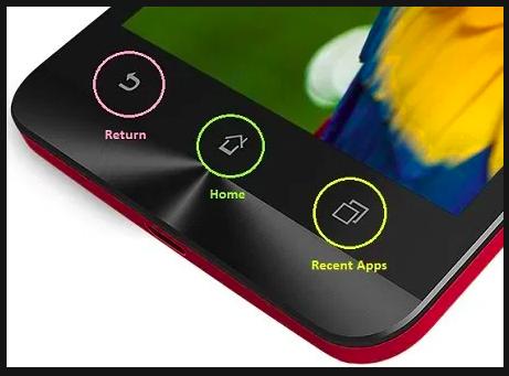 screenshot di HP ASUS dengan Recent Apps